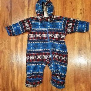 Columbia fleece snowsuit size 6 months.